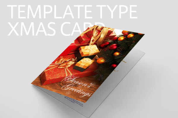 テンプレートタイプ クリスマスカード